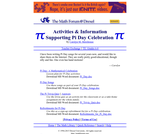 Activities & Information Supporting Pi Day Celebration