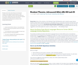 Student Theater, Advanced-Mid, ASL