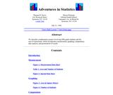 Adventures in Statistics