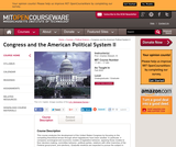 Congress and the American Political System II, Fall 2005
