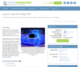 How Do Things Fall? Lesson