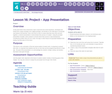CS Discoveries 2019-2020: The Design Process Lesson 4.16: Project - App Presentation