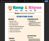 Romp & Rhyme Storytime Lesson Plan: Awesome Autumn