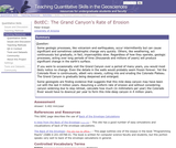 Back of the Envelope Calculations: The Grand Canyon's Rate of Erosion