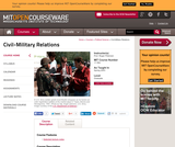 Civil-Military Relations, Spring 2003