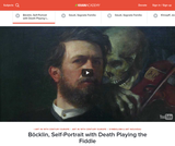 Bocklin's Self-Portrait with Death Playing the Fiddle