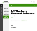 5.NF Mrs. Gray's Homework Assignment