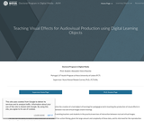 Teaching Visual Effects for Audiovisual Production using Digital Learning Objects
