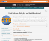 Food Science, Dietetics and Nutrition Model