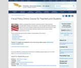 Fiscal Policy Online Course for Teachers and Students