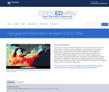 Geographic Information Analysis