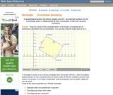 Rectangle Area and Perimeter. (Coordinate Geometry)