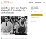 Scottsboro Boys and To Kill a Mockingbird: Two Trials for the Classroom