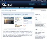 Climatology for the Operational Forecaster