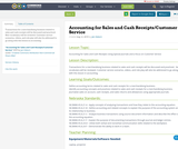 Accounting for Sales and Cash Receipts/Customer Service