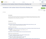 Introduction to the Austrian School of Economics