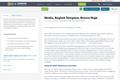 Media, English Template,  Novice High
