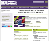 Exploring Size - Powers of Ten Game