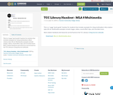 TCC Library Handout - MLA 8 Multimedia