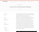 Teach Design : How to Pick A Real-World Challenge