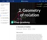 2. Geometry of rotation