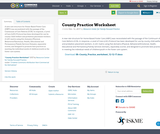 County Practice Worksheet