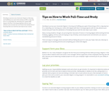 Tips on How to Work Full-Time and Study