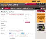Time Series Analysis, Fall 2013