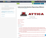 Laboratory Introduction:  Separating a Mixture