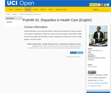 PubHlth 91: Disparities in Health Care (English)