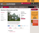 America in Depression and War, Spring 2012