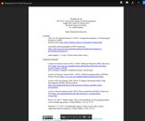 Reading List for ED 231D