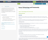 Learn: Technology and Community