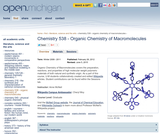 Organic Chemistry of Macromolecules