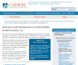 Child and Youth Development in a Child Welfare Context (Version 1.2)