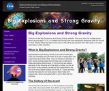 Big Explosions and Strong Gravity