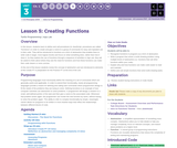 CS Principles 2019-2020 3.5: Creating Functions