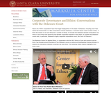 Corporate Governance and Ethics: Conversations with the Delaware Court