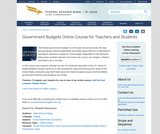 Government Budgets Online Course for Teachers and Students