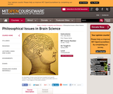 Philosophical Issues in Brain Science, Spring 2009
