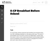 Breakfast Before School