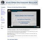 Kids Open Dictionary Builder.