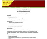 Freshman Statistics Seminar - Week 1