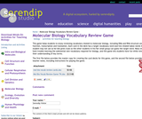 Molecular Biology Vocabulary Review Game