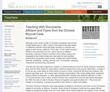 Affidavit and Flyers from the Chinese Boycott Case