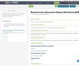 Business Law: Alternative Dispute Resolution (ADR)