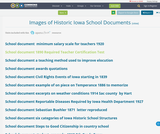 Images of Historic Iowa School Documents