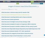 Images of Historic Iowa School Documents