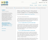 Ethics and Pope Francis's Encyclical Letter Laudato Si: A Teaching Module