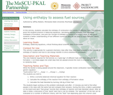 Using enthalpy to assess fuel sources